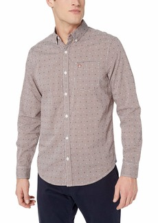 Original Penguin Men's Long Sleeve Gingham Button Down Shirt  XXL