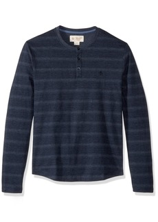 Original Penguin Men's Long Sleeve Heather Stripe Henley