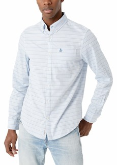 Original Penguin Men's Long Sleeve Horizontal Stripe Button Down Shirt  XXL