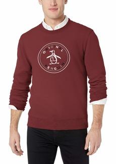 Original Penguin Men's Long Sleeve Logo Sweatshirt tawny Port