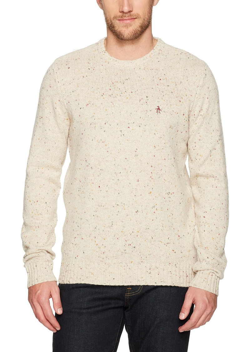 Original Penguin Men's Long Sleeve NEP Crew Sweater  Extra Large