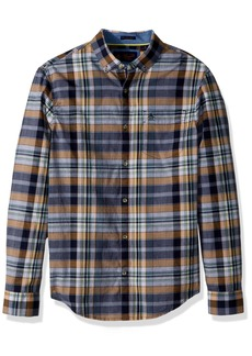 Original Penguin Men's Long Sleeve NEP End Plaid  Extra Large
