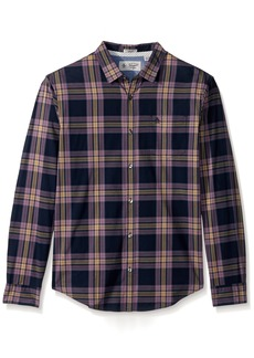 Original Penguin Men's Long Sleeve P55 Plaid Stretch Shirt