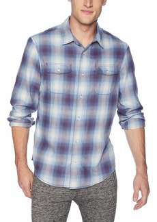 Original Penguin Men's Long Sleeve Plaid Button Down Shirt  XXL