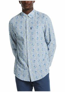 Original Penguin Men's Long Sleeve Printed Button Down Shirt