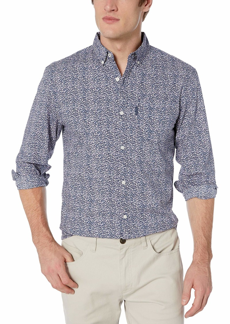 Original Penguin Men's Long Sleeve Printed Button Down Shirt  L