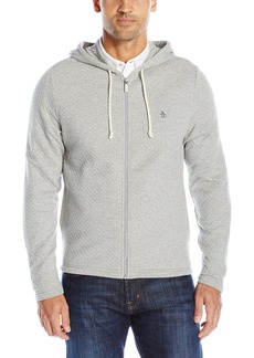 Original Penguin Men's Long Sleeve Quilted Full Zip