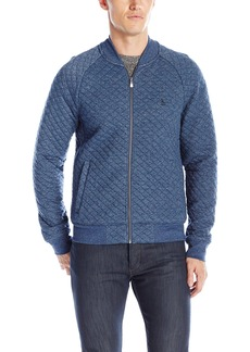 Original Penguin Men's Long Sleeve Quilted Track Jacket  Small