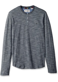 Original Penguin Men's Long Sleeve Slub Feeder Henley  Extra Extra Large