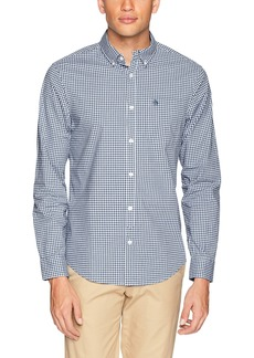 Original Penguin Men's Long Sleeve Stretch Gingham  Extra Large