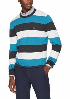 Original Penguin Men's Long Sleeve Stripe Sweater