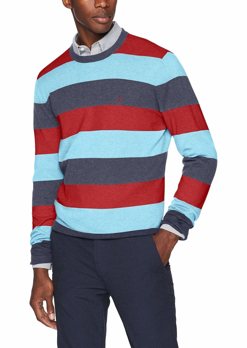 Original Penguin Men's Long Sleeve Stripe Sweater  XXL