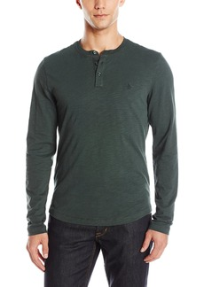 Original Penguin Men's Long Sleeve Sueded Slub