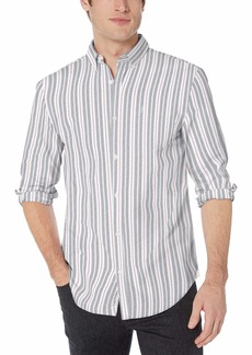Original Penguin Men's Long Sleeve Vertical Stripe Button Down Shirt