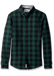 Original Penguin Men's Long Sleeve Waffle Buffalo Check
