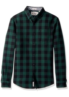 Original Penguin Men's Long Sleeve Waffle Buffalo Check  Extra Extra Large