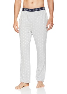Original Penguin Men's Loungewear Logo Knit Pant Light Heather Grey M