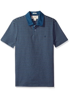 Original Penguin Men's Marl Stripe 2 Button Polo with Contrast Collar