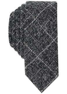 Original Penguin Men's Master Plaid Tie Accessory -dark grey