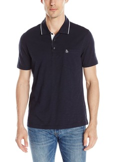 Original Penguin Men's Mesh Jacquard Mearl Polo Shirt