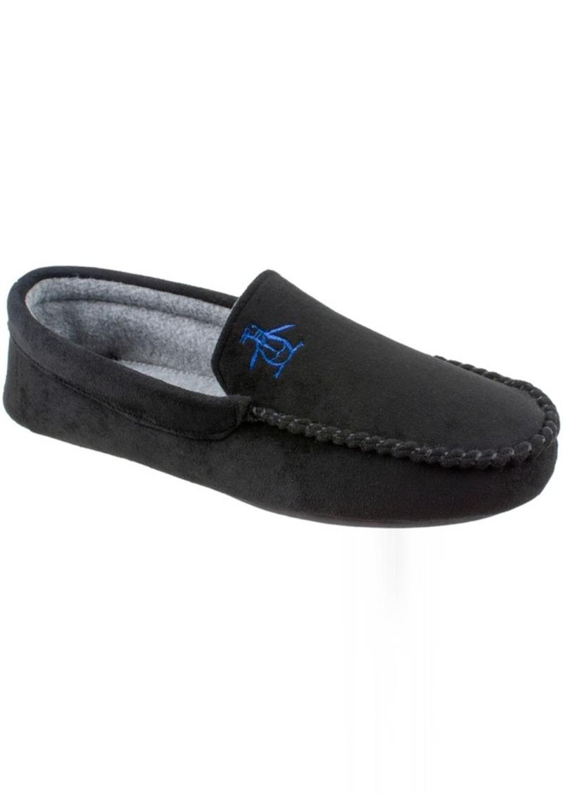Original Penguin Men's Microsuede Venetian Moccasin Slippers with Memory Foam Men's Shoes
