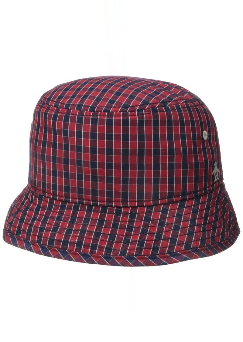 01c62bd800baf Original Penguin Original Penguin Men s Mini Check Bucket Hat Small ...