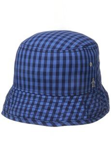 Original Penguin Men's Mini Check Bucket Hat  Large/X-Large