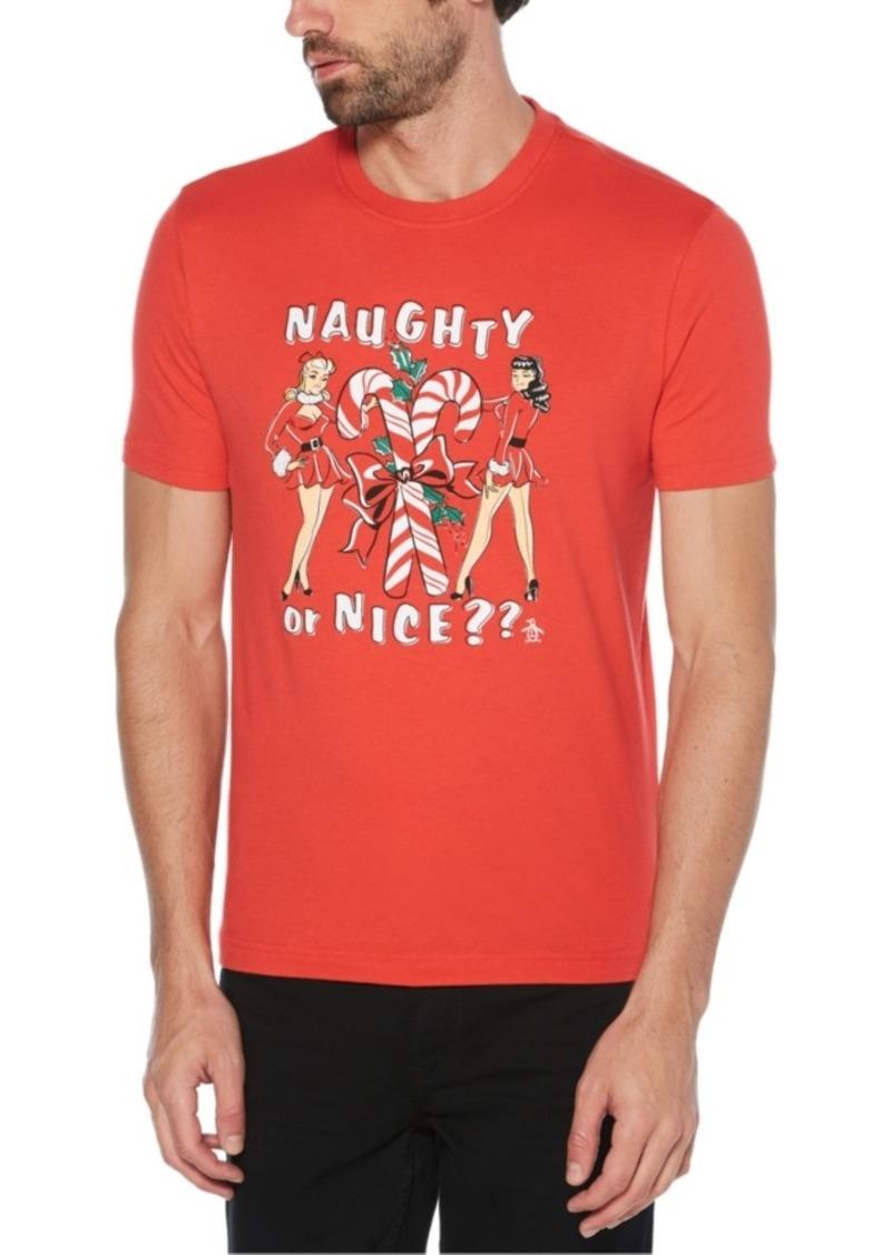 Original Penguin Men's Naughty Or Nice Graphic T-Shirt