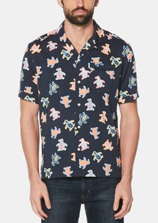 Original Penguin Men's Neon Sticker Graphic Shirt