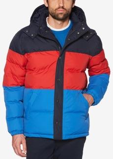 Original Penguin Men's Oversized Quilted Colorblocked Puffer Jacket