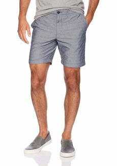 "Original Penguin Men's P55 8"" Dobby Check Chambray Short"