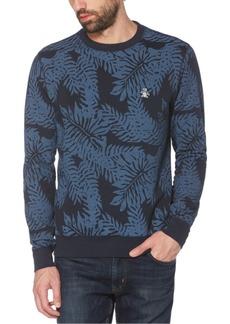 Original Penguin Men's Palm-Print Fleece Logo Sweatshirt