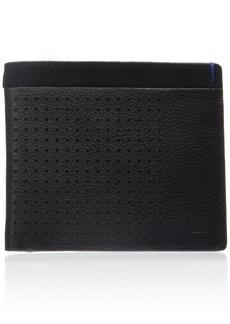 Original Penguin Men's Perf Leather/Suede Combo Bifold Wallet