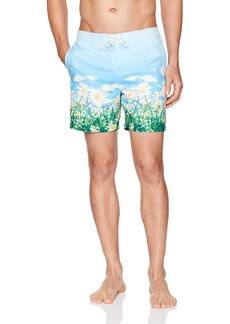 Original Penguin Men's Photo Print Fixed Volley Swim Short