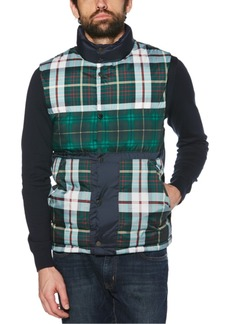 Original Penguin Men's Plaid Patchwork Puffer Vest