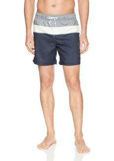 Original Penguin Men's Printed Elastic Waist Volley Swim Short