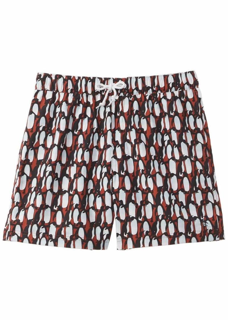 Original Penguin Men's Printed Elastic Waist Volley Swim Short  L