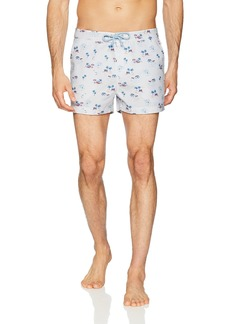Original Penguin Men's Printed Fixed Waist Box Swim Short