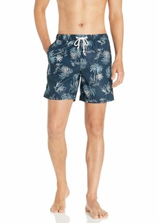 Original Penguin Men's Printed Fixed Waist Volley Swim Short  L