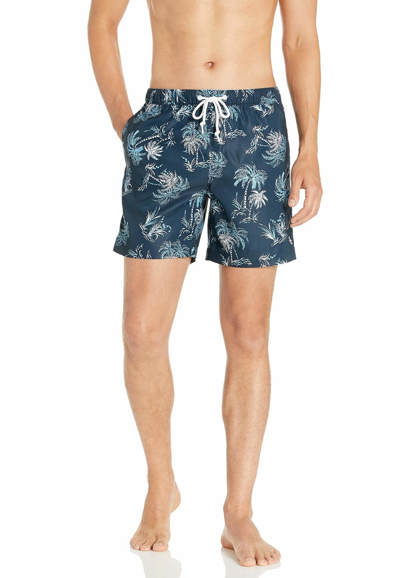 Original Penguin Men's Printed Fixed Waist Volley Swim Short  XL