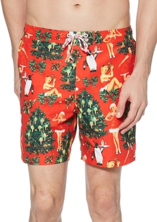 Original Penguin Men's Printed Swim Trunks