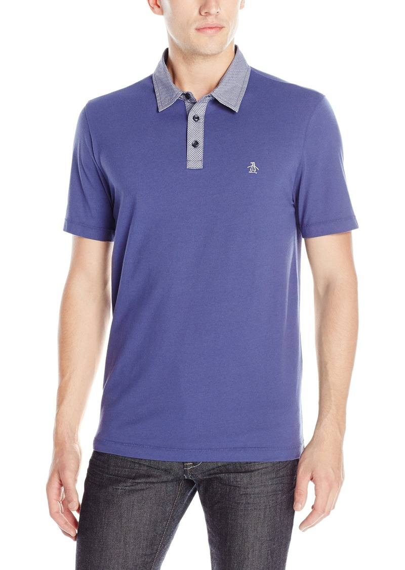 Original Penguin Men's Printed Woven Collar Polo Shirt