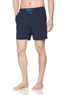 Original Penguin Men's Quick Dry Daddy Polo Elastic Waist Swim Short Dark Sapphire XXL