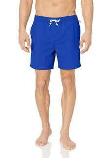 Original Penguin Men's Quick Dry Elastic Waist Daddy Swim Short Surf The Web L
