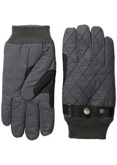Original Penguin Men's Quilted Nylon Gloves  Large/X-Large
