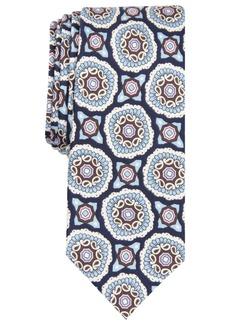 Original Penguin Men's Quinn Medallion-Print Silk Skinny Tie