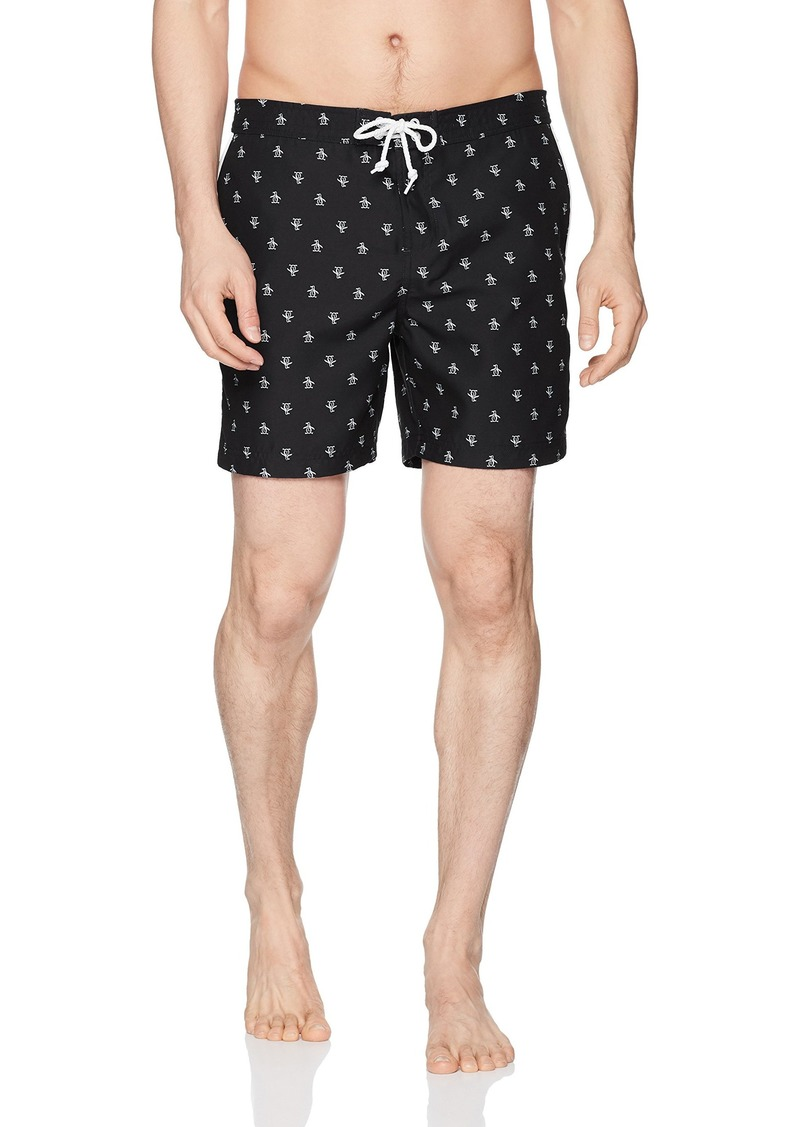 Original Penguin Men's Re-pete Fixed Waist Swim Short