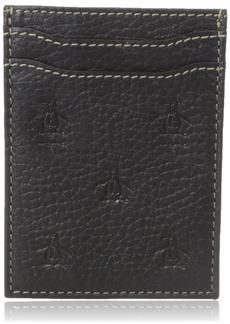 Original Penguin Men's Repeat Deboss Front Pocket Wallet