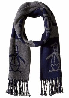 Original Penguin Men's Retro Sport Knit Scarf grey heather/dark sapphire OSFA