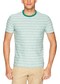 Original Penguin Men's Reverse Plaited Feeder Stripe Polo